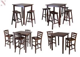 winsome 94359 parkland 3 piece high table with 29 ladder back stool
