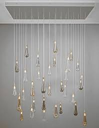 pendant lamp contemporary blown glass adjule