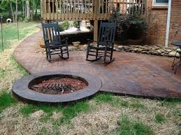 concrete patio designs with fire pit. Perfect Pit Incredible Concrete Patio Ideas With Fire Pit Designs  Design Inspiration 23895 For