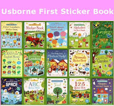 usborne book first sticker book children activity book educational book pre learn and play