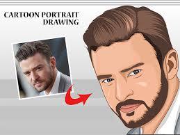 cartoon portrait avatar drawing in adobe ilrator cc vector portrait painting ilrations hand drawn flat design