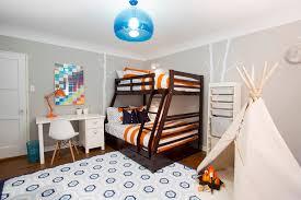 bunk bed lighting ideas kids transitional with boys room orange task chair orange striped bedding bunk bed lighting ideas