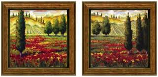tuscany in bloom framed wall art set of 2 sef of pair green