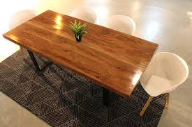 natural color furniture. Charming Design Acacia Wood Furniture Straight Cut Table With Black U Shaped Legs Natural Color Care T