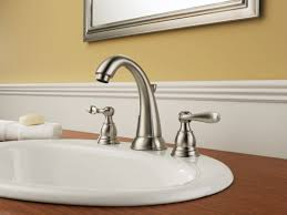 delta brushed nickel bathroom faucets. Delta B3596LF-SS Brilliance Stainless Windemere Widespread Bathroom Faucet With Pop-Up Drain Assembly - Includes Lifetime Warranty Faucet.com Brushed Nickel Faucets T