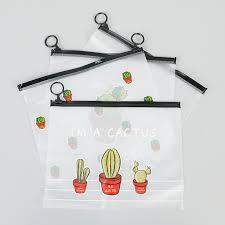 New Transparent Stationery Pencil Bags <b>Cactus PVC Waterproof</b> ...