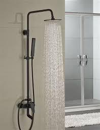 milo round style oil rubbed bronze shower faucet set single handle tub mixer tap w
