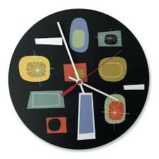 atomic wall clock atomic wall clock in black atomic og wall clock target