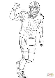 Aaron Rodgers Coloring Page Free Printable Coloring Pages