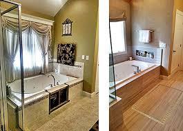 master bathroom renovation before and after of the platform tub master remodels50 remodels