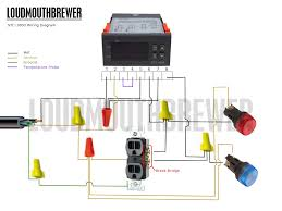 diy stc 1000 2 stage temperature controller wiring diagram loudmouthbrewer stc 1000wiringdiagram