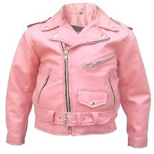toddler pink leather jacket childrens