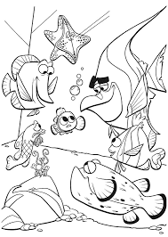 Small Picture Printable Finding Nemo Coloring Pages Coloring Me