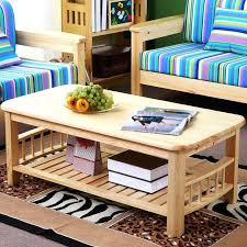 wooden table design pine wood modern center table with shelf natural living room coffee tea table wooden table design