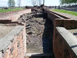 holocaust concentration camps persecution of jews westerbork entrance to crematorium iii in the concentration camp auschwitz ii birkenau