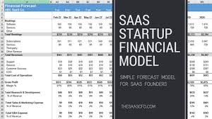Startup Financial Model For Saas Founders The Saas Cfo