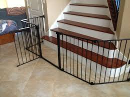 Gate For Stairs Baby Gate For Wide Opening At Bottom Of Stairs Childseniorsafety
