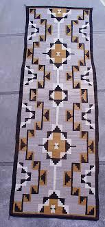 01 navajo textiles navajo rug lightning motif rare runner 1930 len wood s indian territory