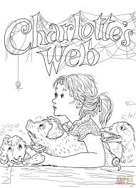 web drawing charlottes web coloring page free printable coloring pages