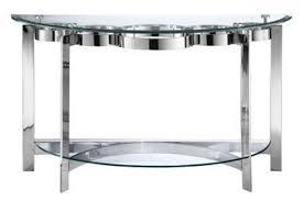 curvy chrome glass sofa table from gardner white furniture