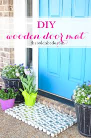 diy wooden doormat with gold accents diywork easy diy front porch