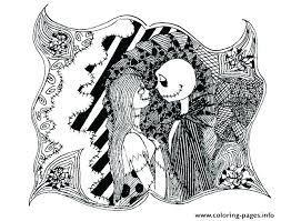 Jack Skellington Coloring Pages Printables Simple Online Free