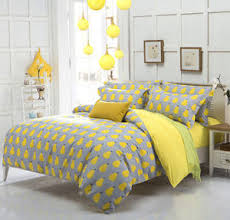 Pear Style Gray And Yellow Duvet Cover with Pillow Case Quilt ... & Image is loading Pear-Style-Gray-And-Yellow-Duvet-Cover-with- Adamdwight.com