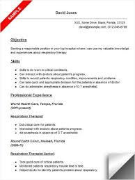 respiratory resume. respiratory therapist resume sample .