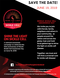 Sickle Cell Logo Design 2019 Shine The Light On Sickle Cell William E Proudford