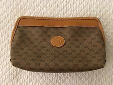 gucci bags on sale cheap. new listing gucci italy monogram gg logo canvas \u0026 leather trim cosmetic bag free shipping gucci bags on sale cheap