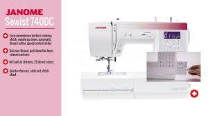Janome 4120qdc Stitch Chart Janome Sewist 740dc Computerized Sewing Machine