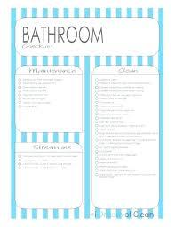 bathroom cleaning schedule. Bathroom Remodel Checklist Template Cleaning Schedule Form Clean Us
