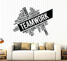 wall decal for office. Office Decals Fascinating Teamwork Vinyl Wall Decal Word Cloud Success  Decor Worker Stickers Style Depot Window Wall Decal For Office