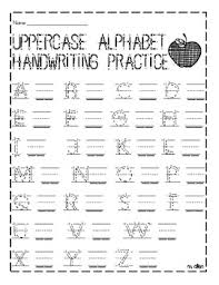 letters practice sheet uppercase and lowercase handwriting practice sheet by miranda allen