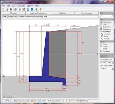 Small Picture RetainWall Designing a Concrete or Masonry Retaining Wall Software