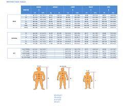 Suits Size Chart