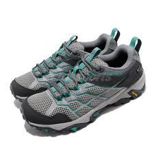 Details About Merrell Moab Fst 2 Gtx Gore Tex Grey Green Women Outdoors Trail Shoes J90064