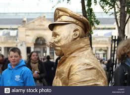 male living statue street performer in covent garden london stock image