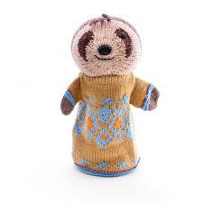 sloth hand puppet
