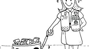 Printable Girl Scout Brownie Coloring Pages Idea Or Pictures For