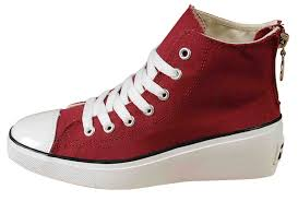 converse shoes high heels. maroon converse all star platform women high tops sneakers chuck taylor wine red canvas elevated heel zipper shoes heels