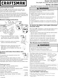 craftsman 13953680 user manual garage door opener manuals and guides l0804154