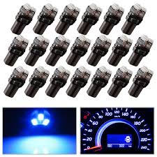 18 Inch T5 Light Bulbs Yitamotor 20x T5 3 Smd Dash Gauge Instrument Side Blue Led Bulbs Light 74 17 18 37