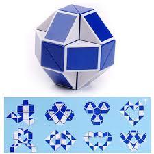 Online Shop <b>24 pieces mini Magic</b> cube Snake Toy Blocks Ruler ...