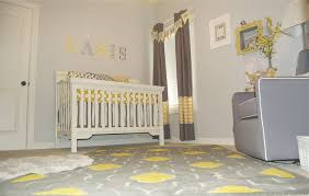 Baby Room:Amazing Gray Themed Baby Nursery Room Design With Yellow Table And  White Baby