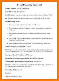 Event Planning Proposal 10 Event Planning Proposal Template 1mundoreal