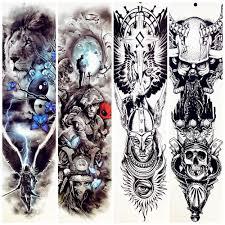 спартанцев воин Temporarty татуировки наклейки 48x17 см большой