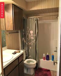 before after a diy spa style bathroom