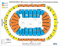 Sec Championship Seating Chart 2020 Sec Womens Gymnastics Championships Infinite Energy
