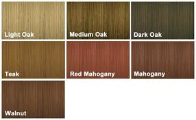 Wood Stain Colour Chart Wood Dye Colour Charts
